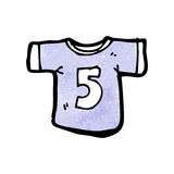 cartoon sports shirt with number five Stock Photo