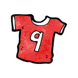 Cartoon sports shirt with number nine Royalty Free Stock Image