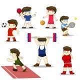 Cartoon sports. Cartoon sports vector set Royalty Free Stock Photo