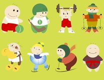 Cartoon sportsmen Stock Images