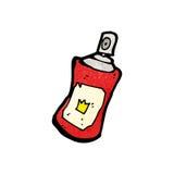 Cartoon spray can Royalty Free Stock Image