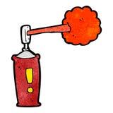 Cartoon spray can Stock Image