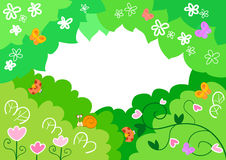 Cartoon spring background  Stock Images