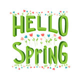 Cartoon spring lettering Royalty Free Stock Images