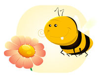 Cartoon SPring Or Summer Bee Royalty Free Stock Image