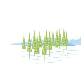 Cartoon Spruce Trees Royalty Free Stock Photo