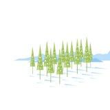 Cartoon Spruce Trees Royalty Free Stock Photo