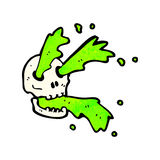 cartoon spurting slime skull Stock Photos