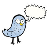 Cartoon squawking bird Royalty Free Stock Photography