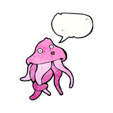 Cartoon squid Royalty Free Stock Photo
