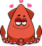 Cartoon Squid in Love Royalty Free Stock Photo