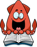 Cartoon Squid Reading Stock Photos