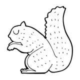 cartoon squirrel Stock Photography