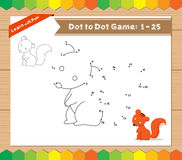 Cartoon Squirrel. Dot to dot educational game for kids Stock Photography