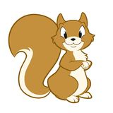 Cartoon Squirrel. Isolated object for design element Stock Photography