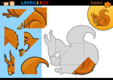 Cartoon squirrel puzzle game Royalty Free Stock Photo