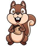 Cartoon squirrel. Vector illustration of cartoon squirrel Stock Photo