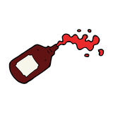 Cartoon squirting blood bottle Royalty Free Stock Photography