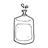 Cartoon squirting bottle Royalty Free Stock Images