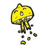 Cartoon squirting lemon Stock Images