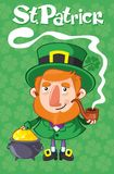 Cartoon St Patrick Day Poster Royalty Free Stock Images