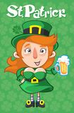 Cartoon St Patrick Day Template Stock Images