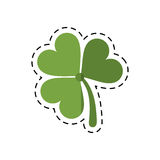 Cartoon st patricks day clover lucky icon Royalty Free Stock Photos