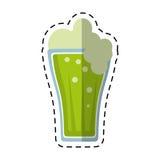 Cartoon st patricks day green beer Stock Image