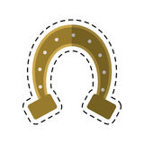 Cartoon st patricks day horseshoe symbol Stock Photo