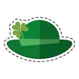 Cartoon st patricks day leprechaun hat clover Stock Image