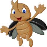 Cartoon stag beetle Stock Photos