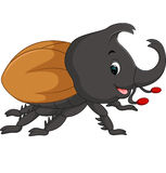Cartoon stag beetle Stock Image