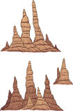 Cartoon stalagmites. Vector clip art illustration with simple gradients. Each group on a separate layer Royalty Free Stock Photography