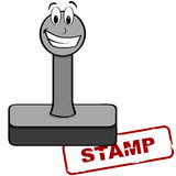 Cartoon stamp Royalty Free Stock Photography