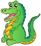 Cartoon standing crocodile Stock Photo