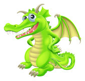 Cartoon Standing Dragon Stock Images