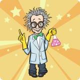 Cartoon standing mad scientist. Vector illustration of Cartoon standing mad scientist stock illustration