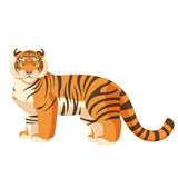 Cartoon standing tiger Royalty Free Stock Images