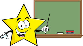Cartoon star with a blackboard Stock Image