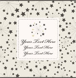 Cartoon star card Royalty Free Stock Photo