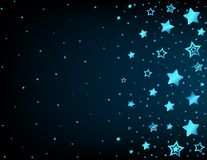 Cartoon star colored background Stock Image