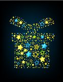 Cartoon star colored gift Royalty Free Stock Photos