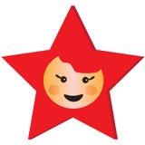 Cartoon star face Stock Image