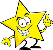 Cartoon star with an idea. Stock Photography
