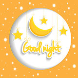 Cartoon star and moon wishing good night. Vector background EPS1. 0 Stock Images
