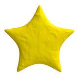 Cartoon star of plasticine or clay. Royalty Free Stock Photo