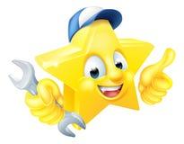Cartoon Star Plumber or Mechanic Royalty Free Stock Photos