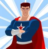 Cartoon star Super hero stock illustration