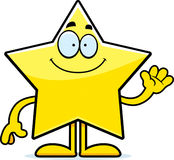 Cartoon Star Waving Royalty Free Stock Image