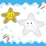 Cartoon starfish Royalty Free Stock Photography